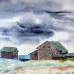 Helen Santiago, A Storm Brewing at a Barren Farm