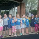 The group of girl scouts!