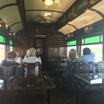 The dining car on the train!