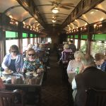 Enjoying lunch on the dining car!