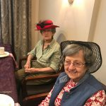 Margaret and Sally have their hats for the tea party!