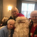 Marquerite, her daughter, Barbara and Santa!