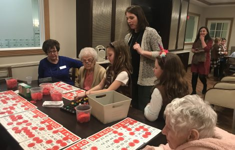 Intergenerational Programming with Girl Scout Troop 5106