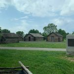 The log cabins used by the soldiers!