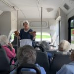 Nancy explaining the soldiers had a loaf of bread and a piece of steak to each day.